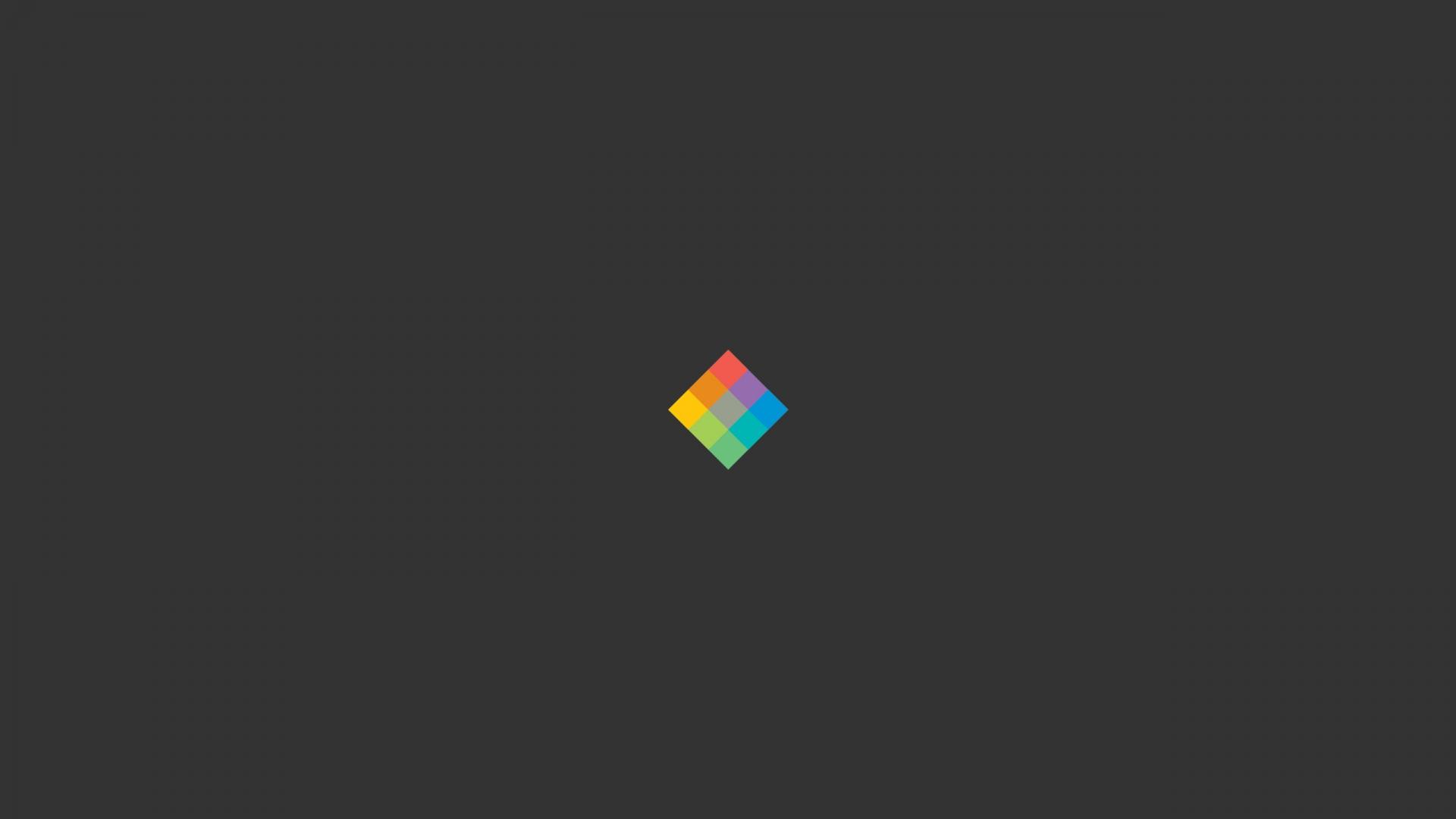 Download Wallpaper 1920x1080 minimalist cube bright background Full 1920x1080
