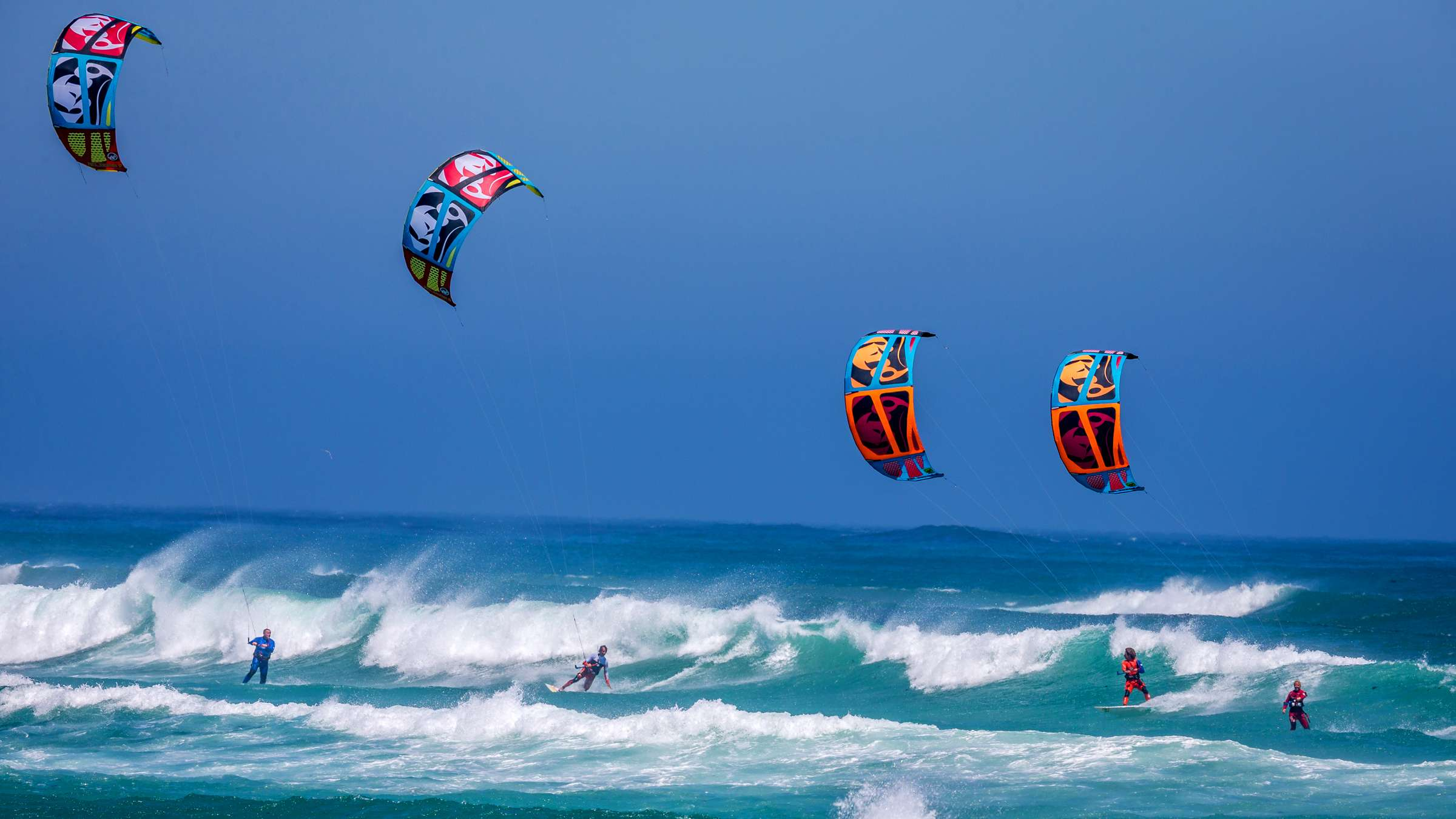 Kite Surfing Kiteboarding Adventure Sports HD Wallpapers 2400x1350