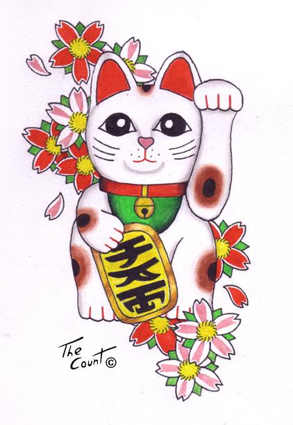 Japanese Good Luck Cat Wallpaper That lucky cat maneki neko 422x613
