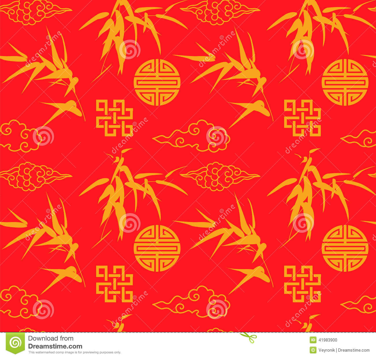 chinese bamboo seamless background red gold traditional wallpaper 1300x1238