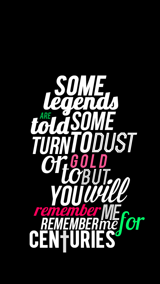 iPhone Wallpaper Centuries   Fall Out Boy by kitamikeita on 640x1136