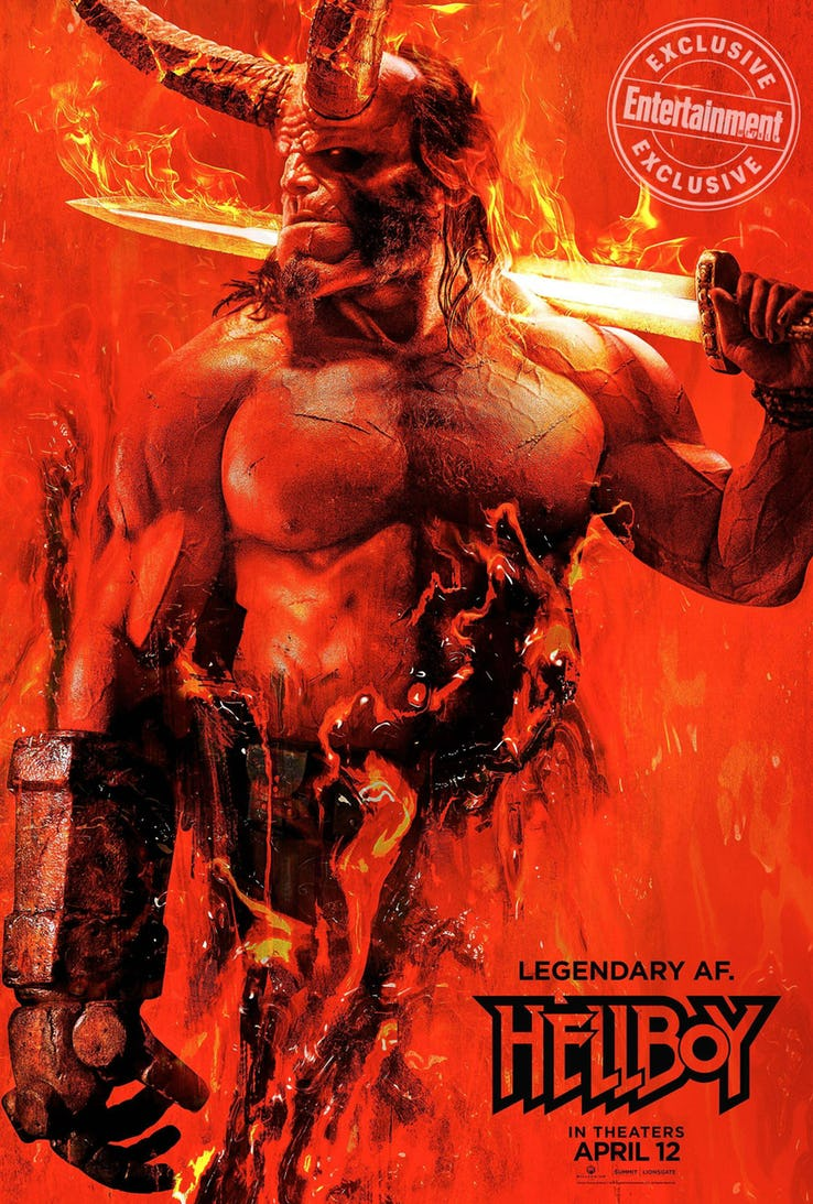 First Poster for Hellboy Reboot Is Fire   mxdwn Movies 738x1093