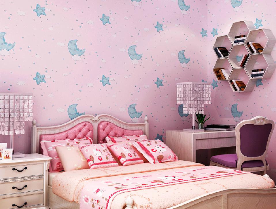 light purple wallpaper for girls bedroom cartoon girl bedroom pink 958x726