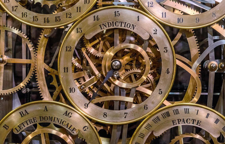 Wallpaper France mechanism Strasbourg astronomical clock images 1332x850