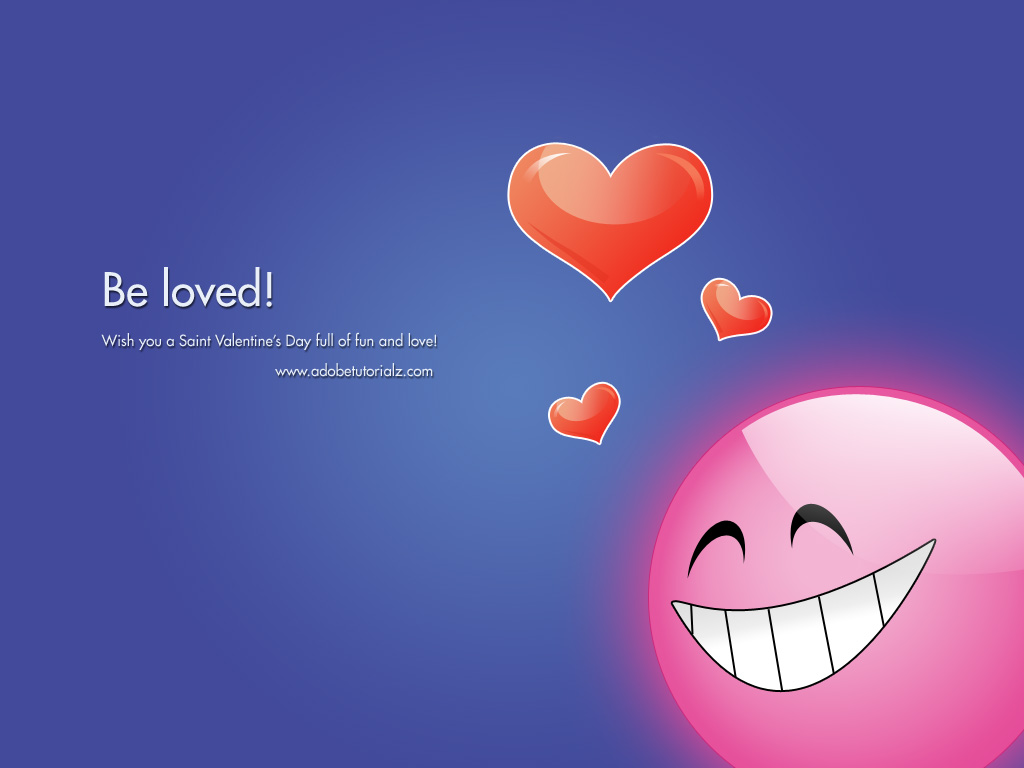 Create Valentine Day Wallpaper 1024x768