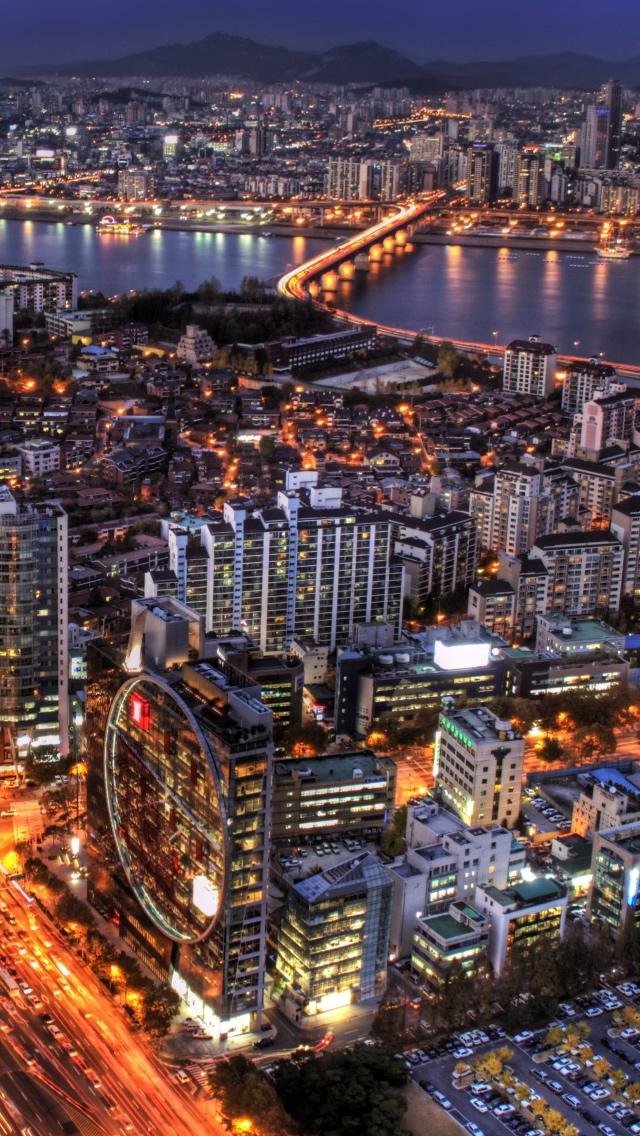 Free Download At Night South Korea Iphone 5s Wallpaper Download