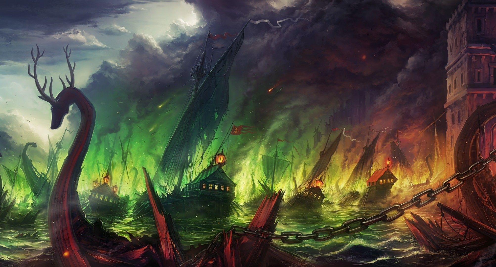 Song of Ice and Fire Painting Wallpaper HD Wallpapers 2006x1082