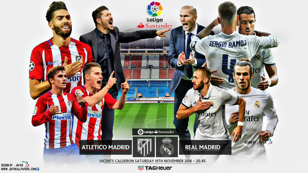 ATLETICO MADRID   REAL MADRID WALLPAPERS by jafarjeef on 1024x576