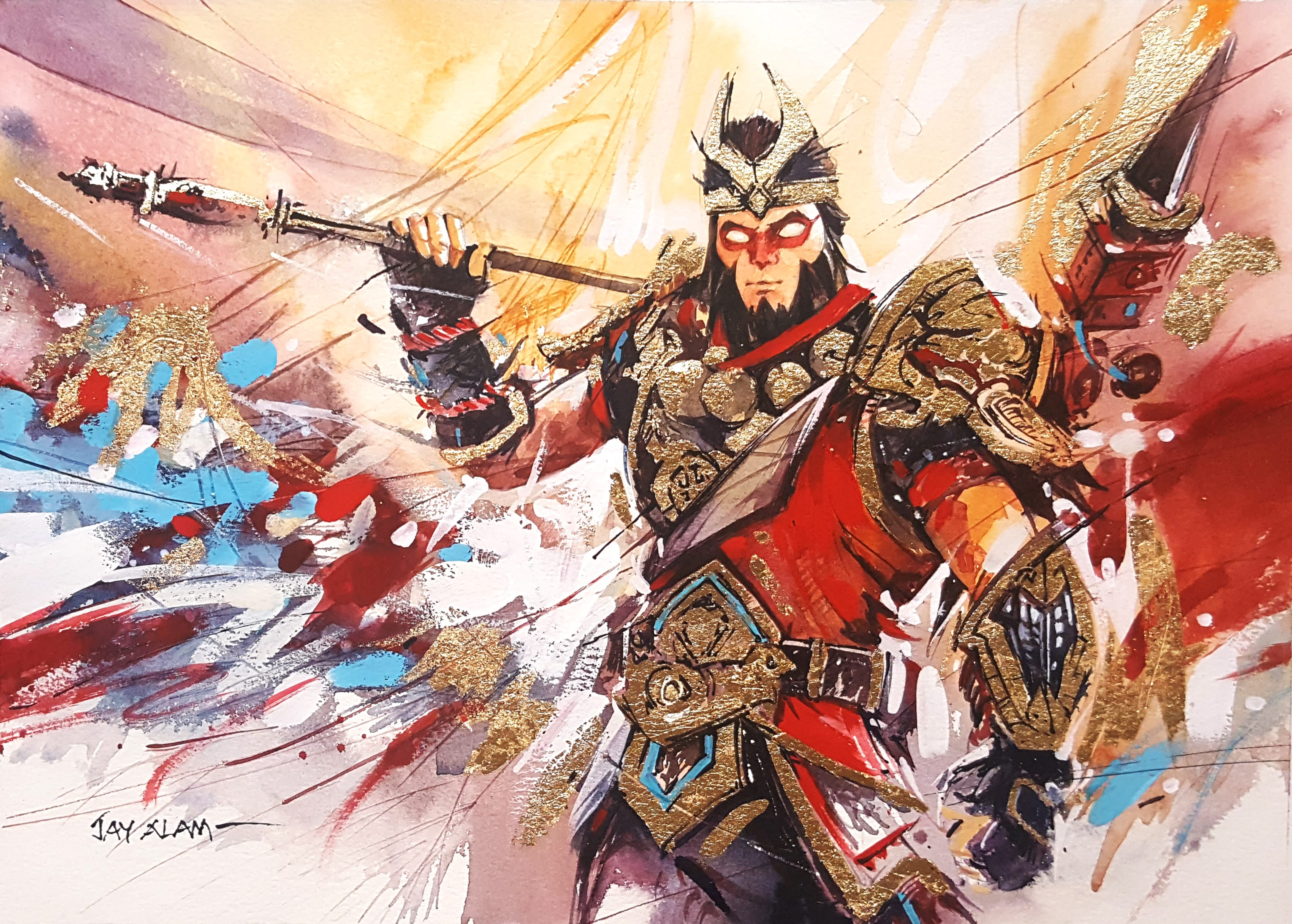 Fortnite Wukong Watercolour Painting 4189 Wallpapers and 3060x2188