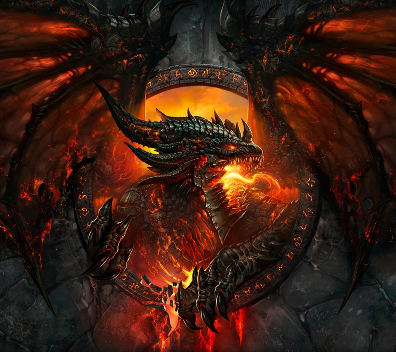 Fire Dragon Phone Wallpaper 1440x1280