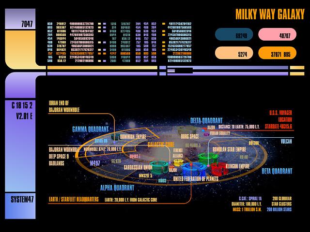 Star Trek System 47 LCARS Screen Saver Version 2 640x480