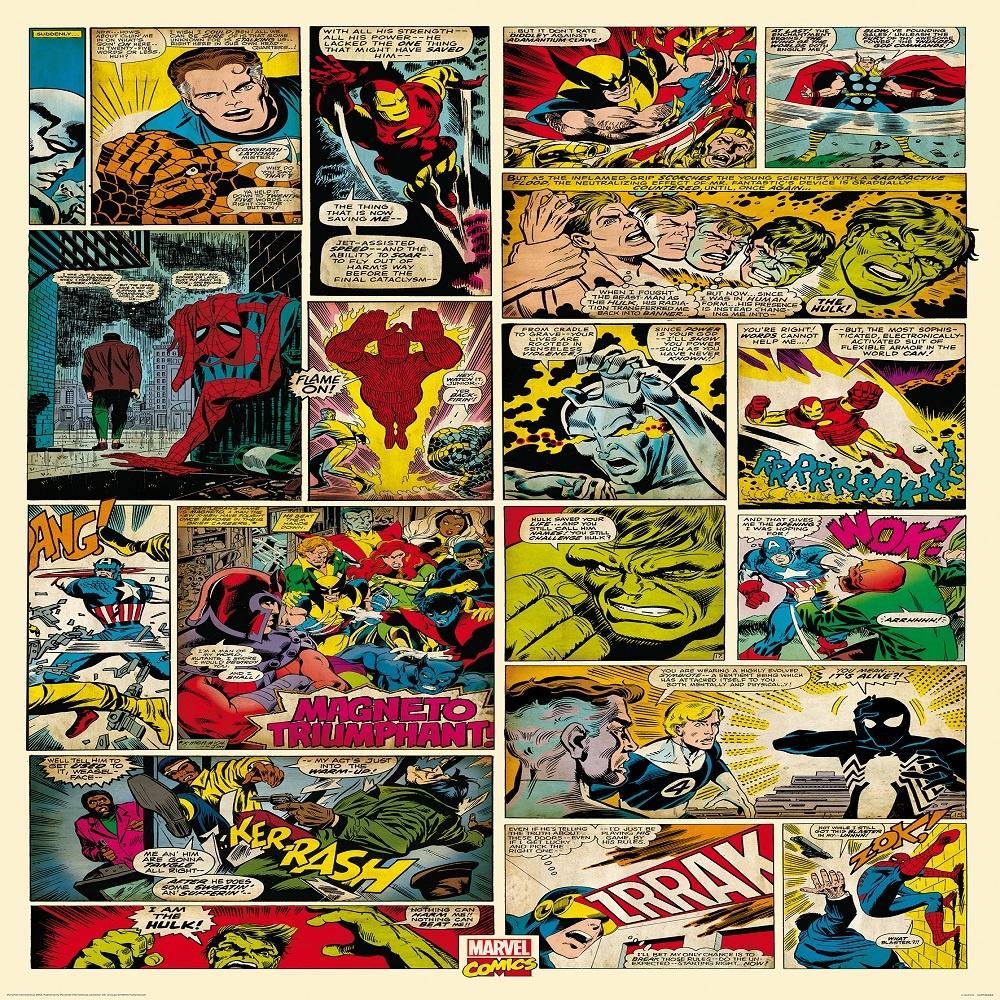 50 Marvel Comic Wallpaper For Walls On Wallpapersafari