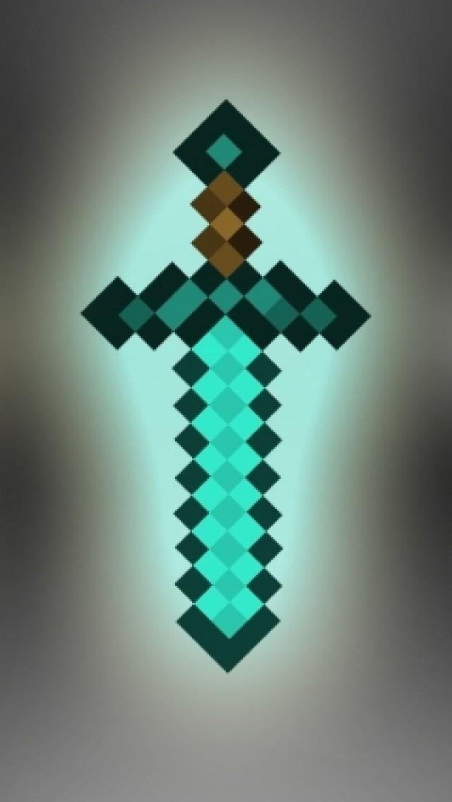 Minecraft Diamante iPhone wallpaper 640x1136