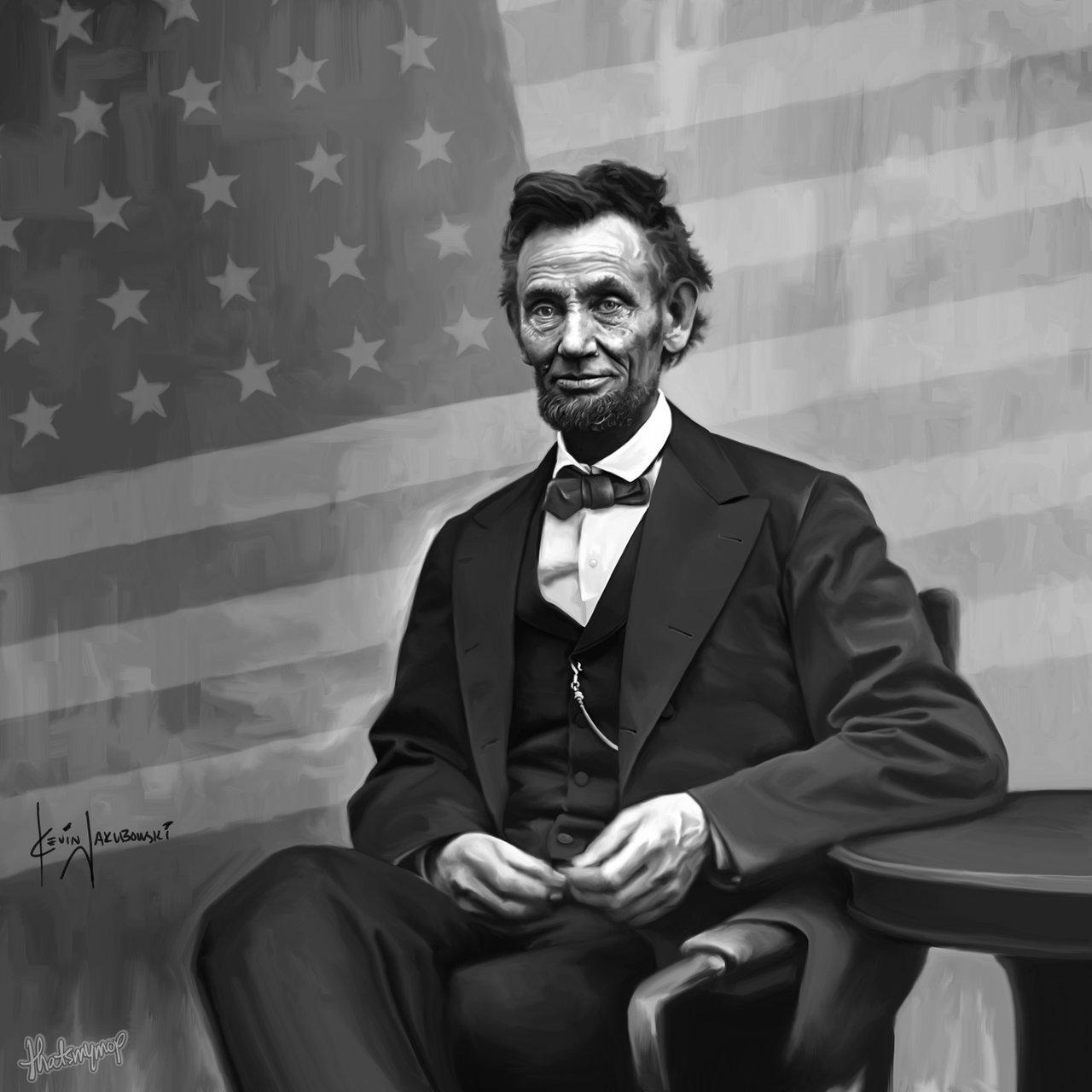 Abe Lincoln   sitting by thatsmymop 1280x1280