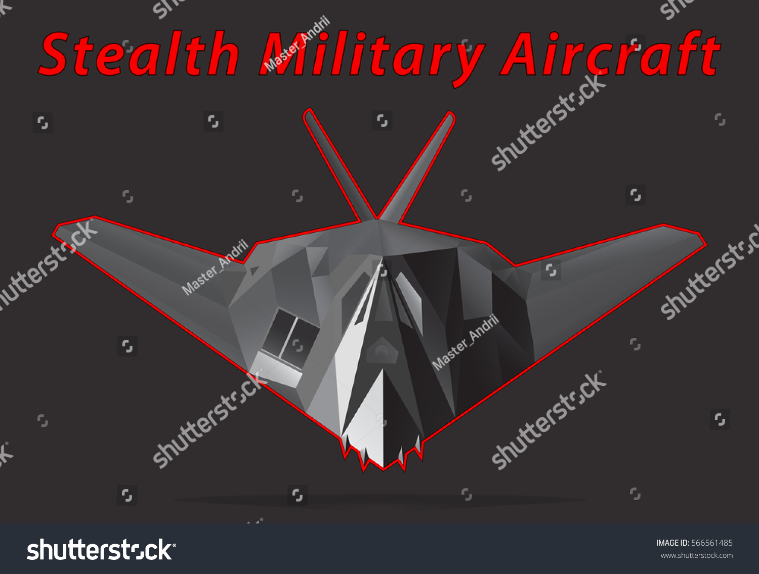 Stealth Military Aircraft Black Background Vector Stock Vector 1500x1135