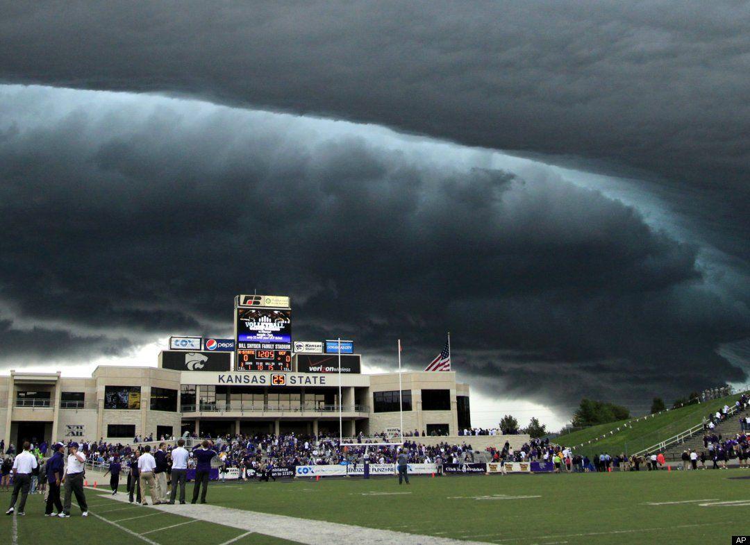 Kansas State UCF Game Hit By Extreme Weather Stunning PHOTOS 1080x785