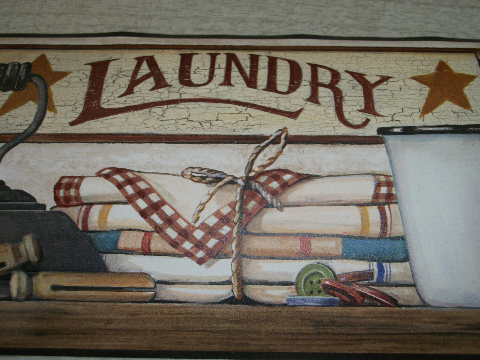 Primitive Laundry Room Wallpaper Border 1 1600x1200