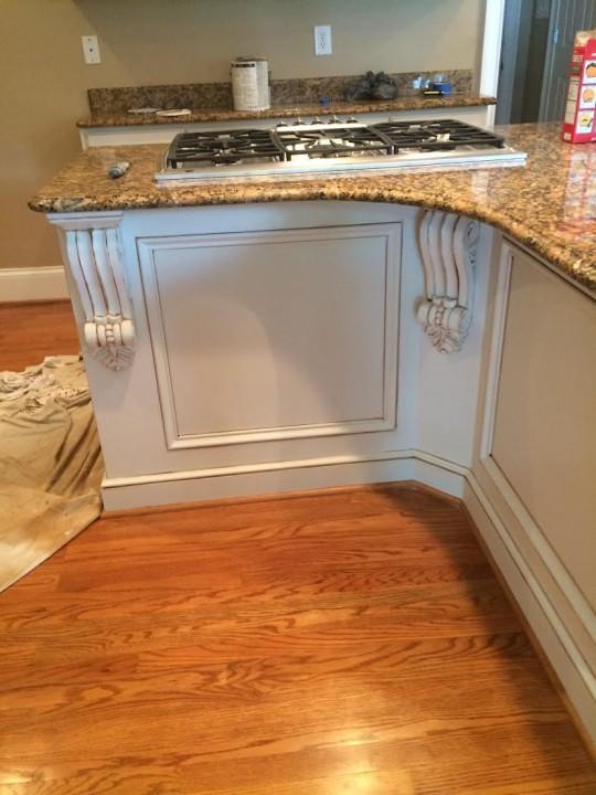 After Kitchen Cabinets Glaze in Huntersville NC 540x720