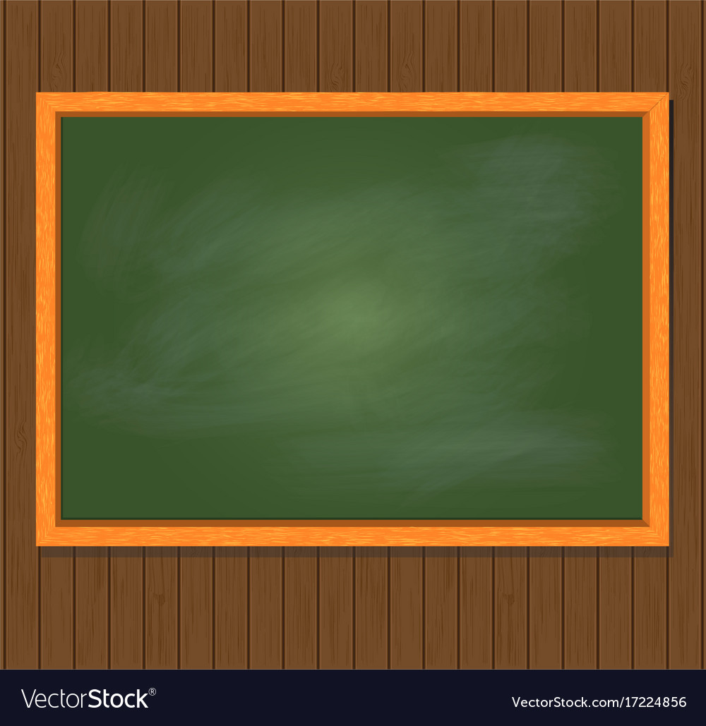 Green board on brown wooden background Royalty Vector 1000x1029