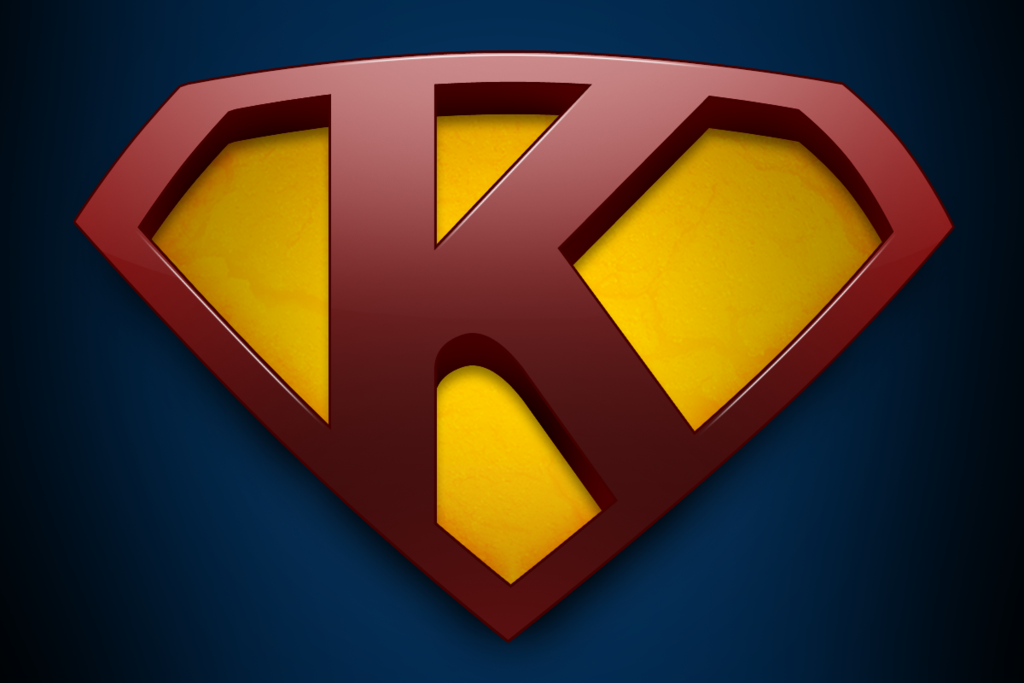 Superman with letter K wallpaper by mirzakS 1024x683