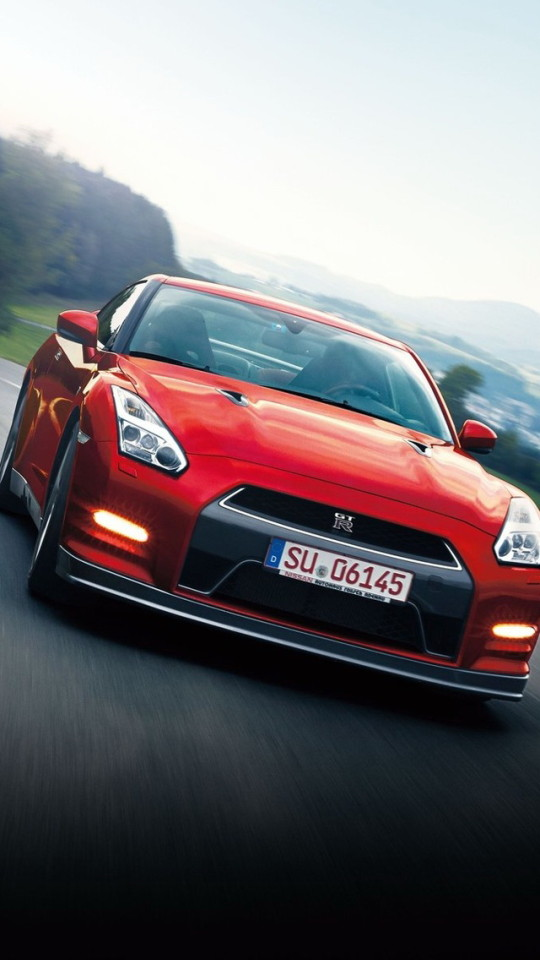 Nissan GTR Sports Car Red iPhone 6 6 Plus and iPhone 54 Wallpapers 540x960