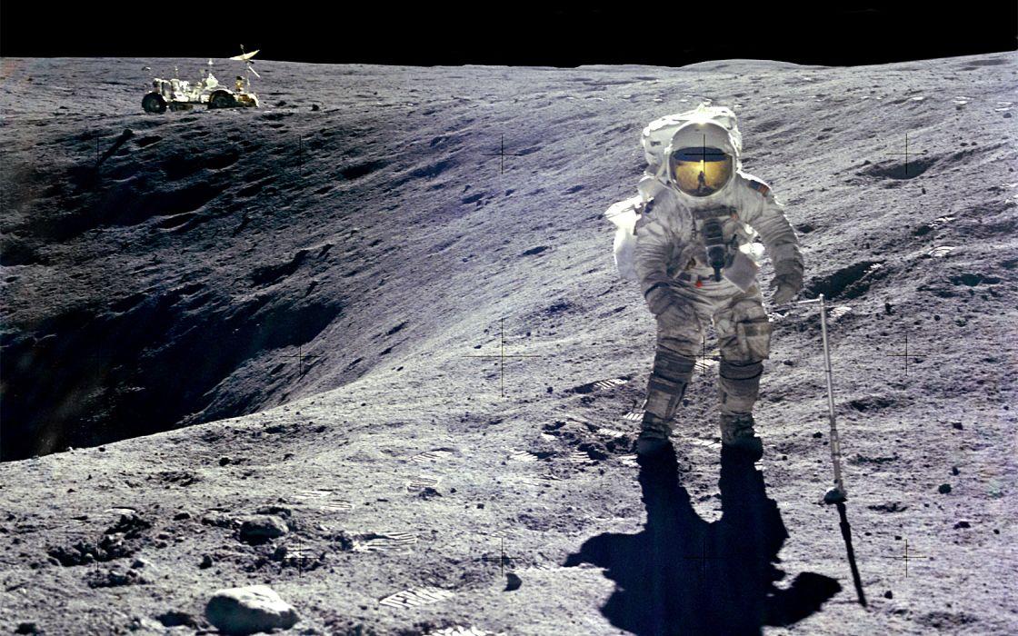 Moon astronauts moonwalk wallpaper 1680x1050 199165 WallpaperUP 1120x700