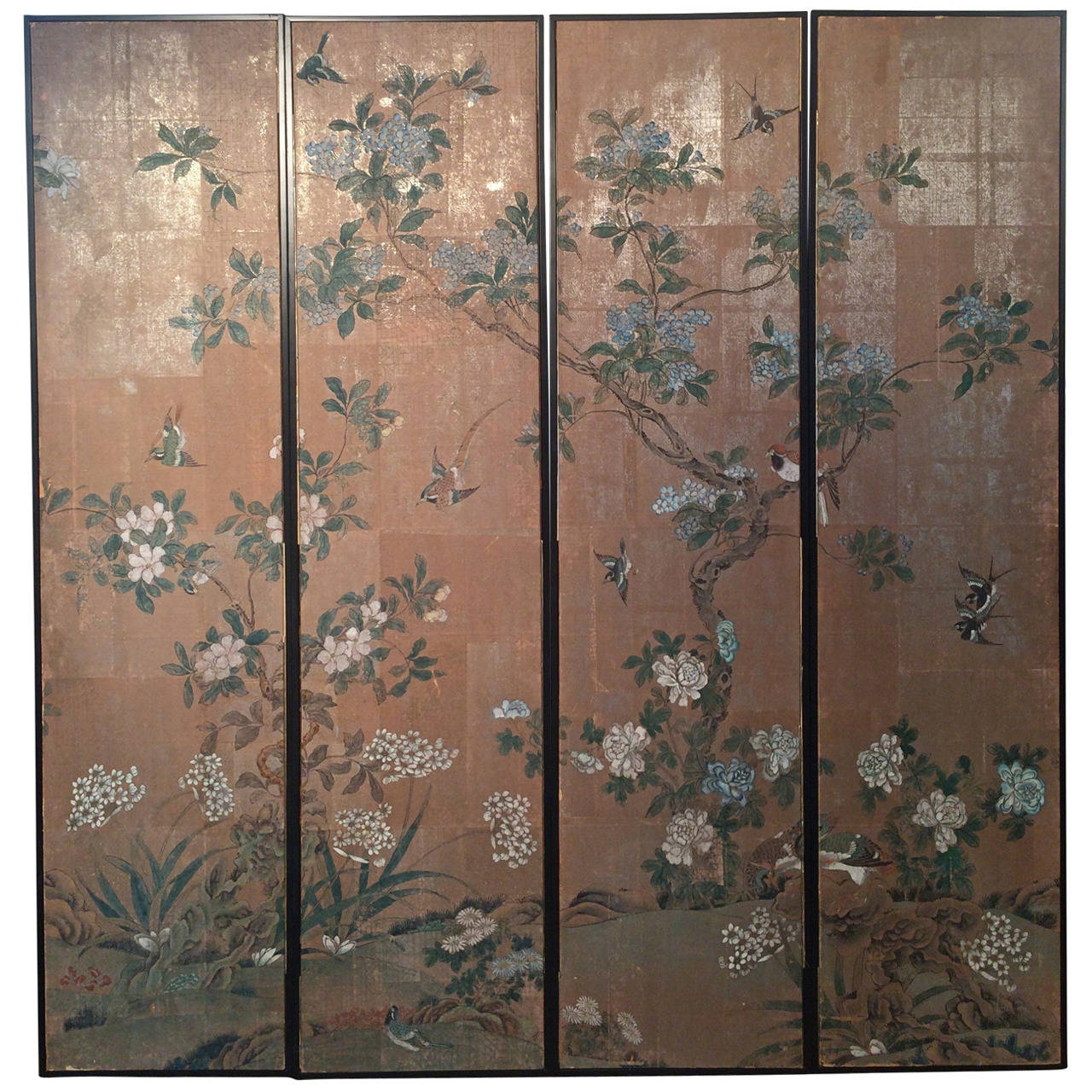 Framed Vintage Gracie Chinoiserie Wallpaper Panels For Sale at 1stdibs 1280x1280