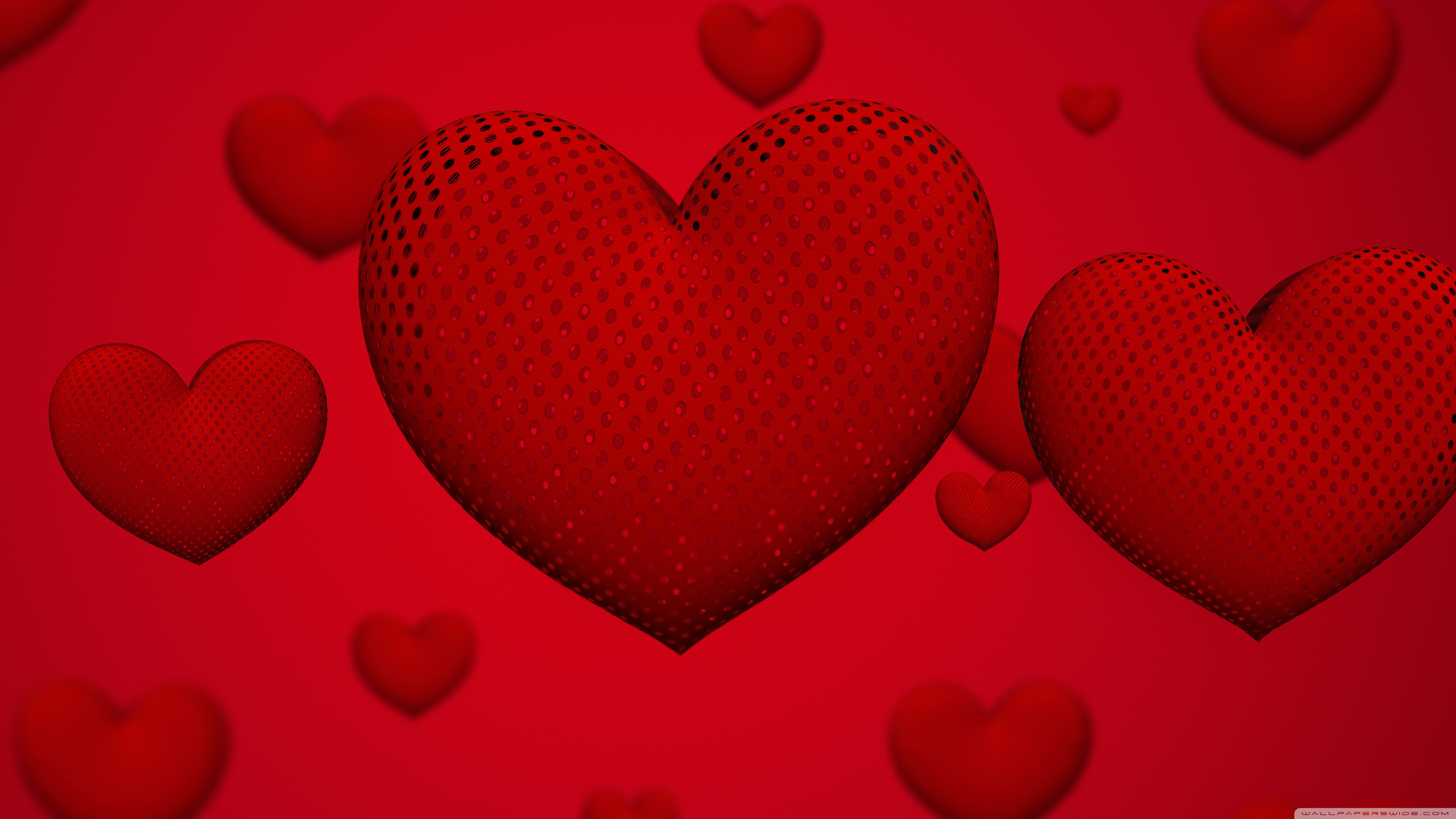 Valentines Day Hearts Ultra HD Desktop Background Wallpaper for 3554x1999