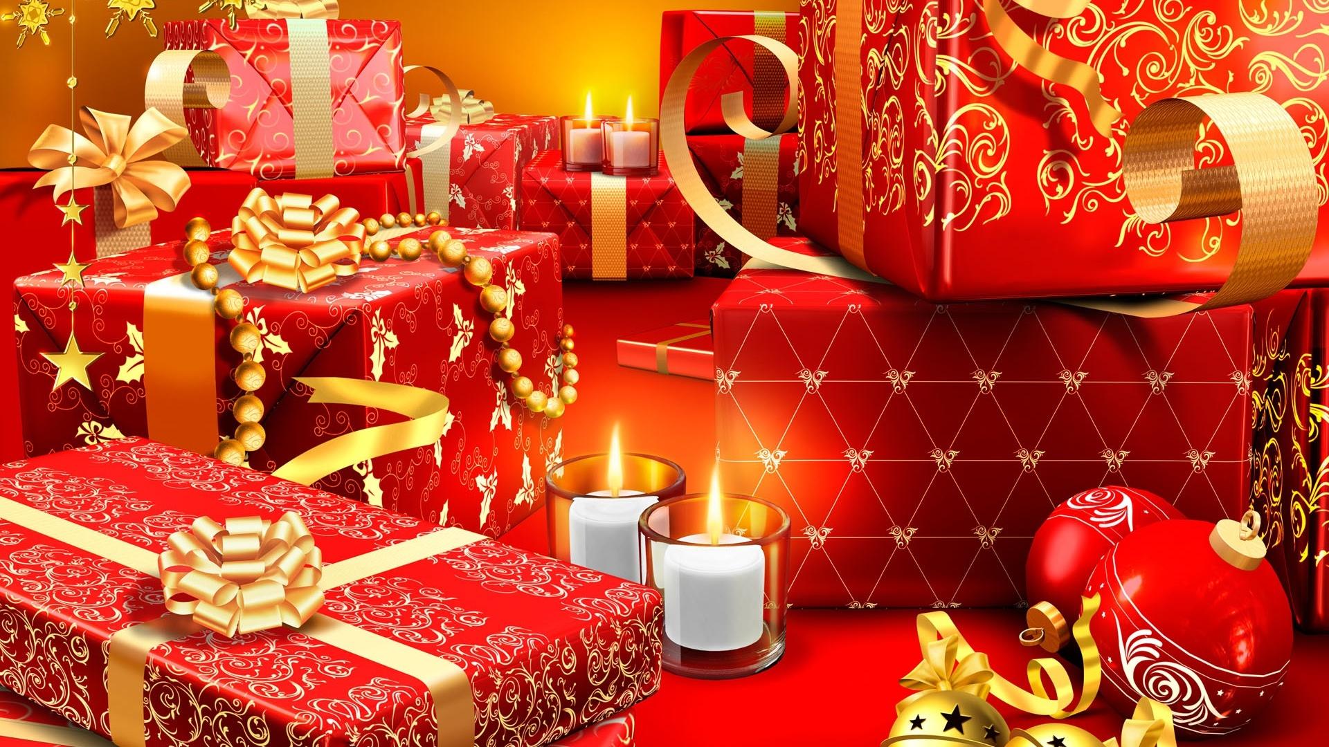 1920x1080 Christmas presents desktop PC and Mac wallpaper 1920x1080