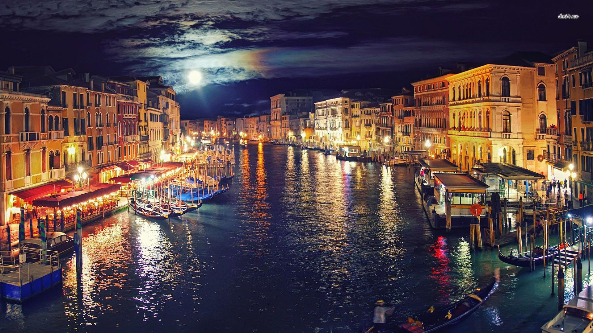 Venice at night wallpaper   World wallpapers   23861 1920x1080