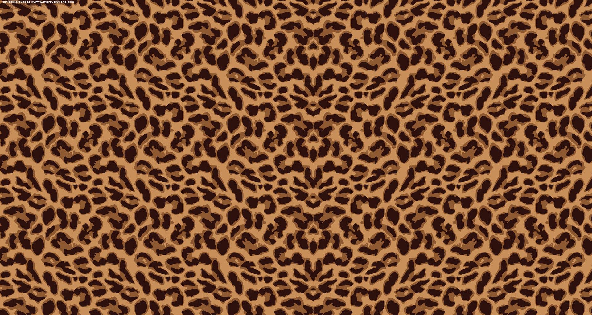 Leopard print Twitter background   Twitterevolutions 1920x1024