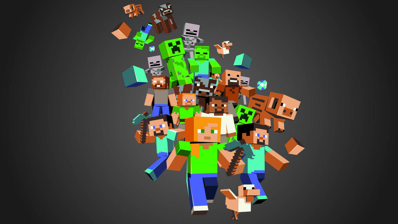 Free Download Wallpapers Games Minecraft Wallpaper 1344x756 For
