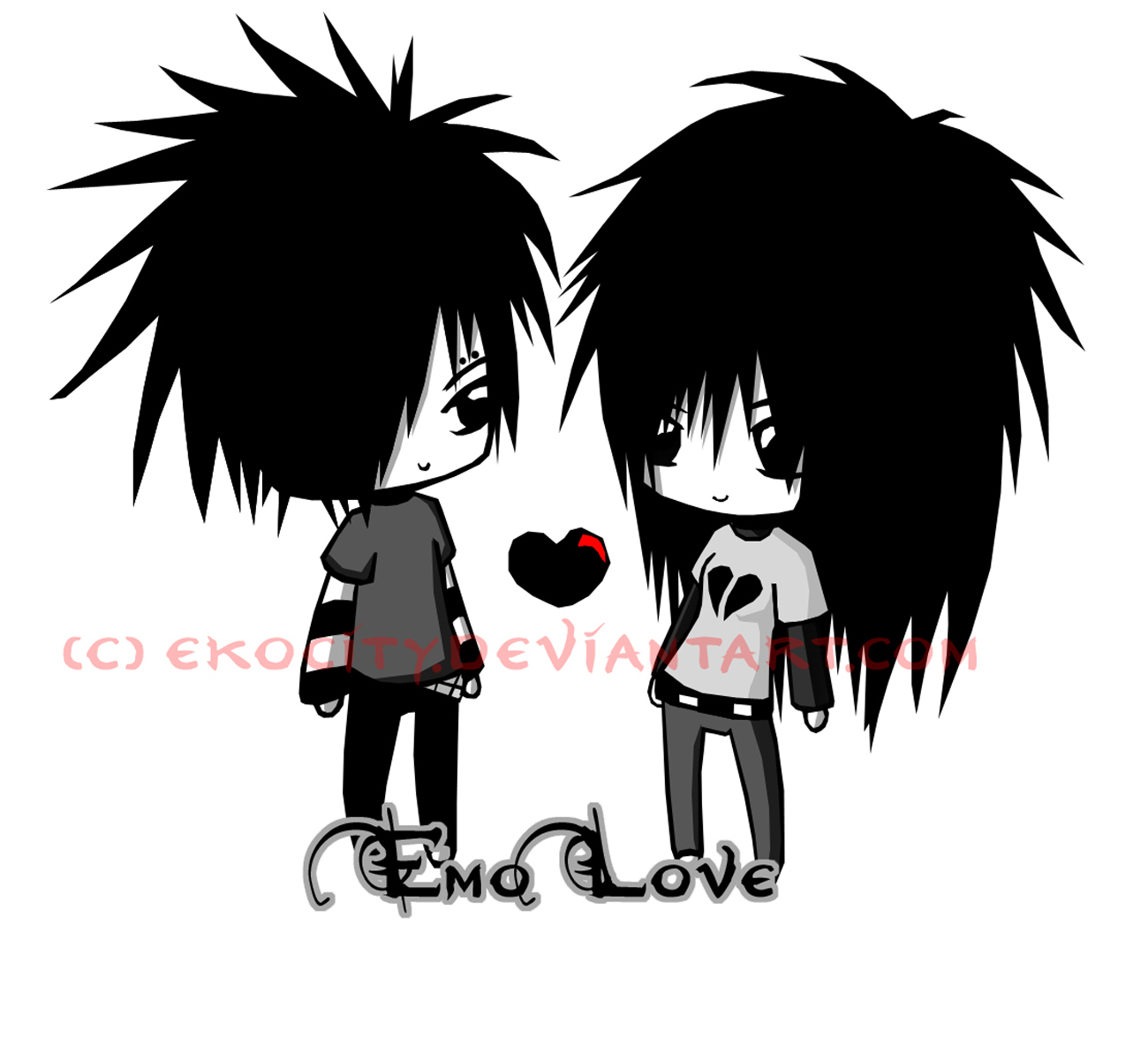 Download Wallpapers Emo love 1300x1175