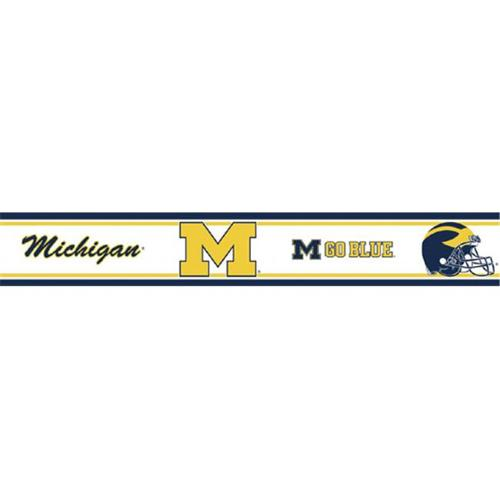 MGO Michigan Wolverines Peel and Stick Wallpaper Border   Walmartcom 500x500