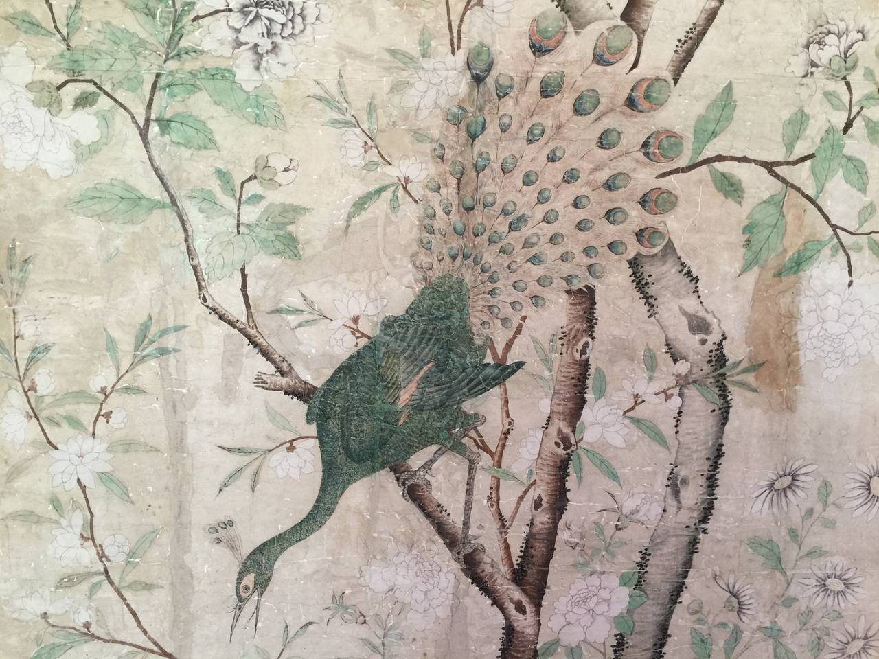 Free Download Framed 18th Century Chinese Wallpaper Panel Image 6