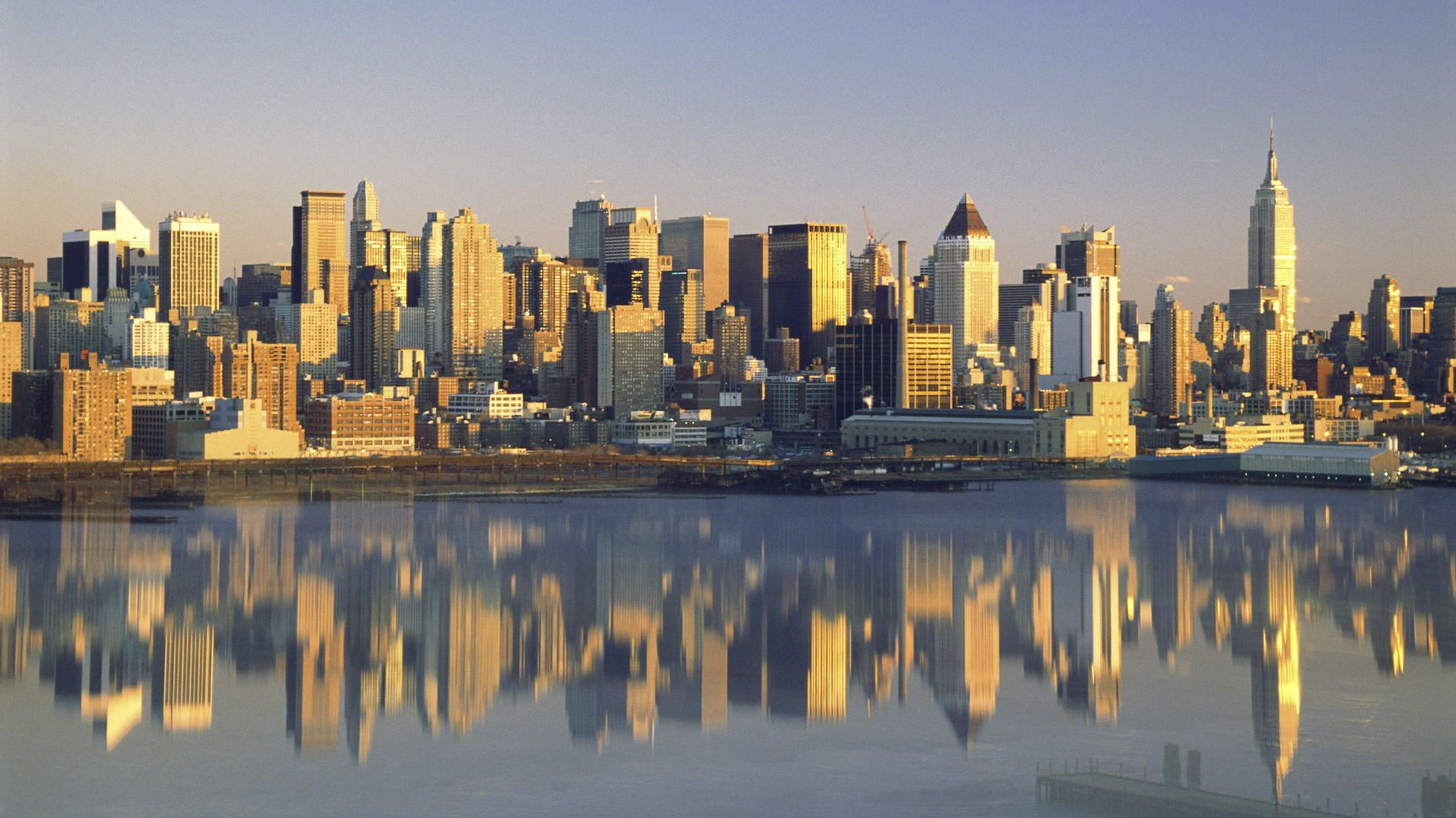 Buildings City New York City Reflected New York picture nr 34202 1920x1080