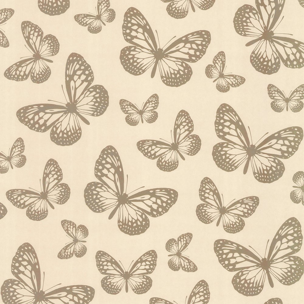 Love Wallpaper Metallic Butterfly Wallpaper Cream Gold eBay 1000x1000