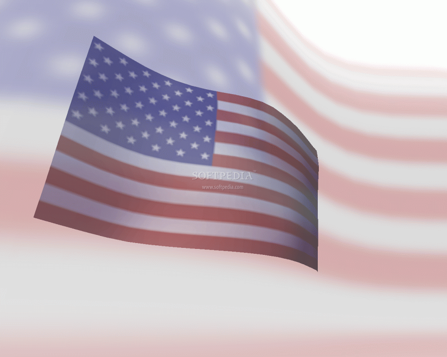 Flag Screen Saver is a 3D flag displaying a waving flag of United 900x720
