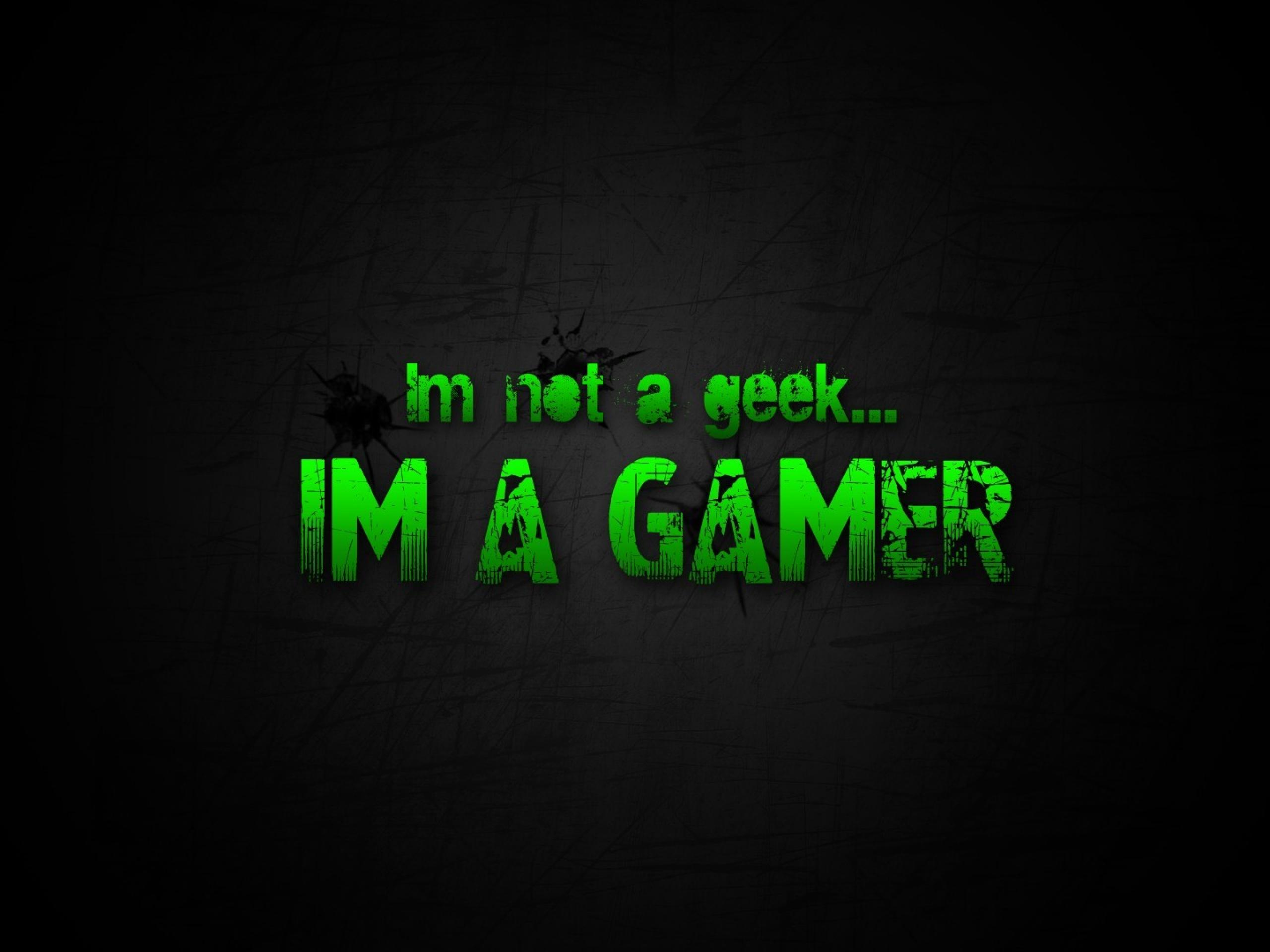 gamer wallpaperwallpapers geek green video games black nerd scratches 2560x1920