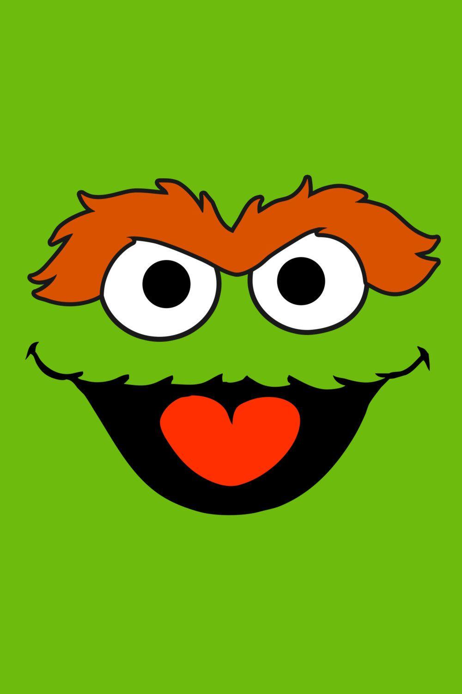 Sesame Street   Oscar The Grouch Poster   Birthday Decoration 1000x1500