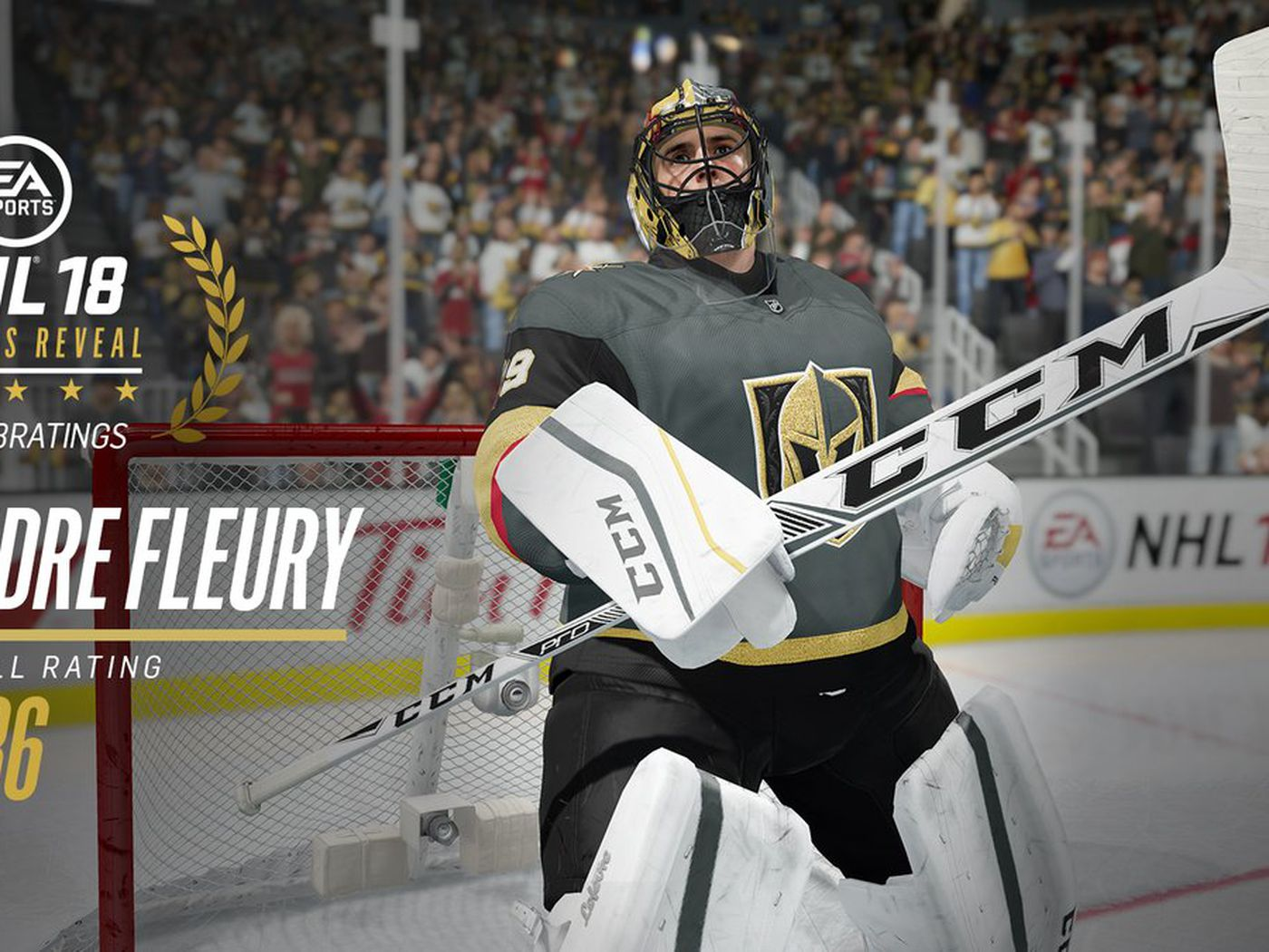 EA Sports reveals Marc Andre Fleury is an 86 overall in NHL 18 1400x1050