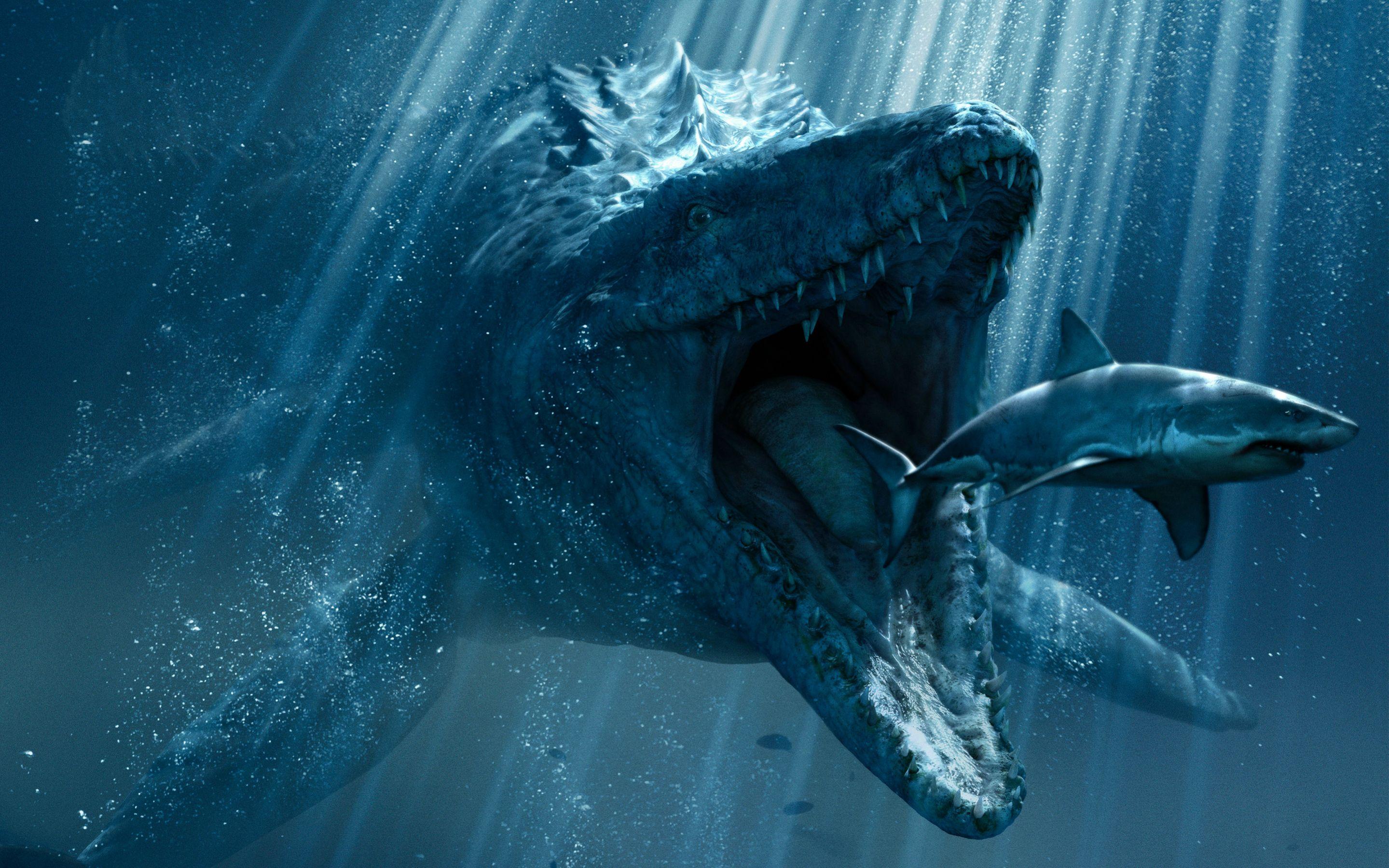 Jurassic World Underwater Hd Wallpaper [28801800]   Jurassic 2879x1799