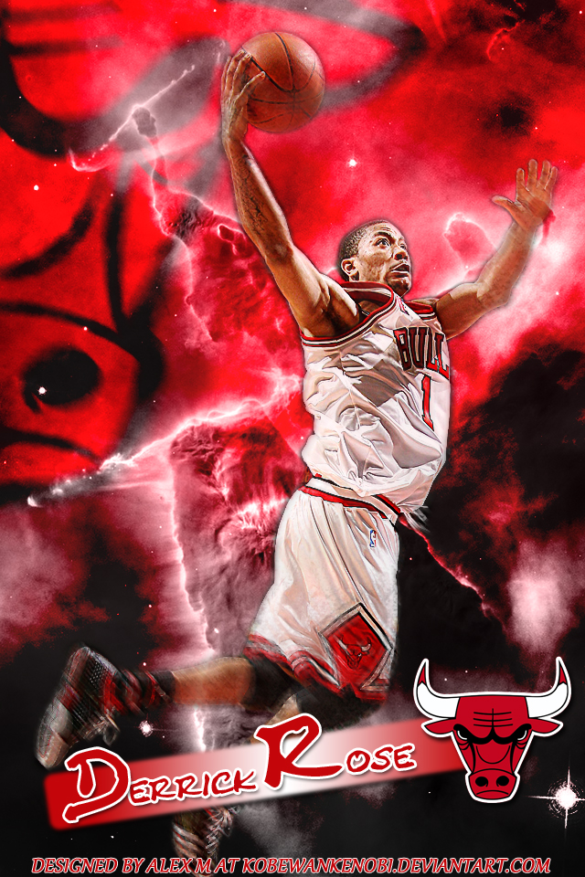 Derrick Rose iPhone Wallpaper by KobeWanKenobi 640x960