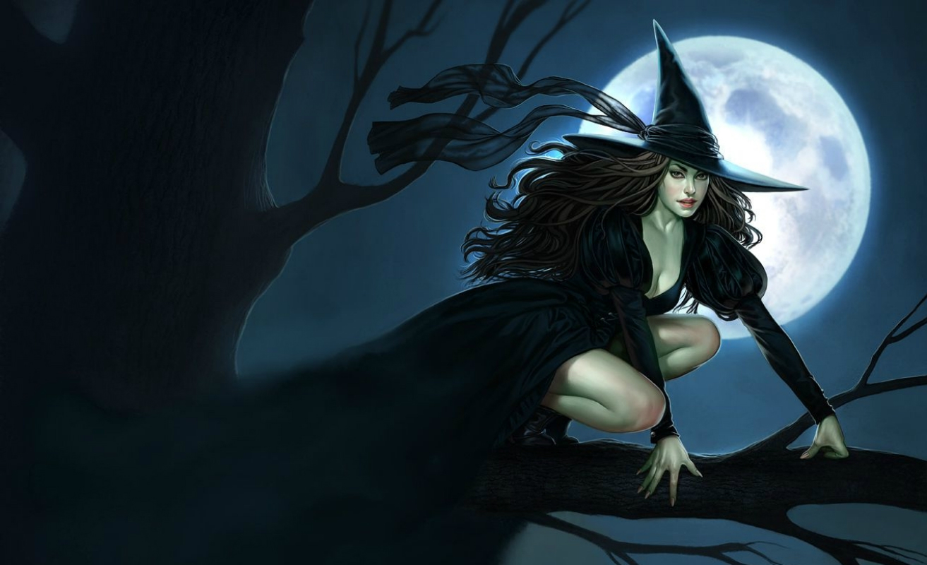 Downloading beautiful black witch Wallpaper Background 1313x800