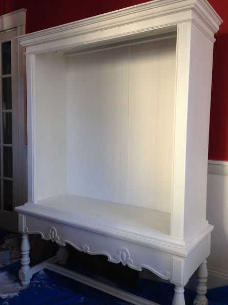 Here is the cupboard almost completed The wainscoting is in place and 445x594