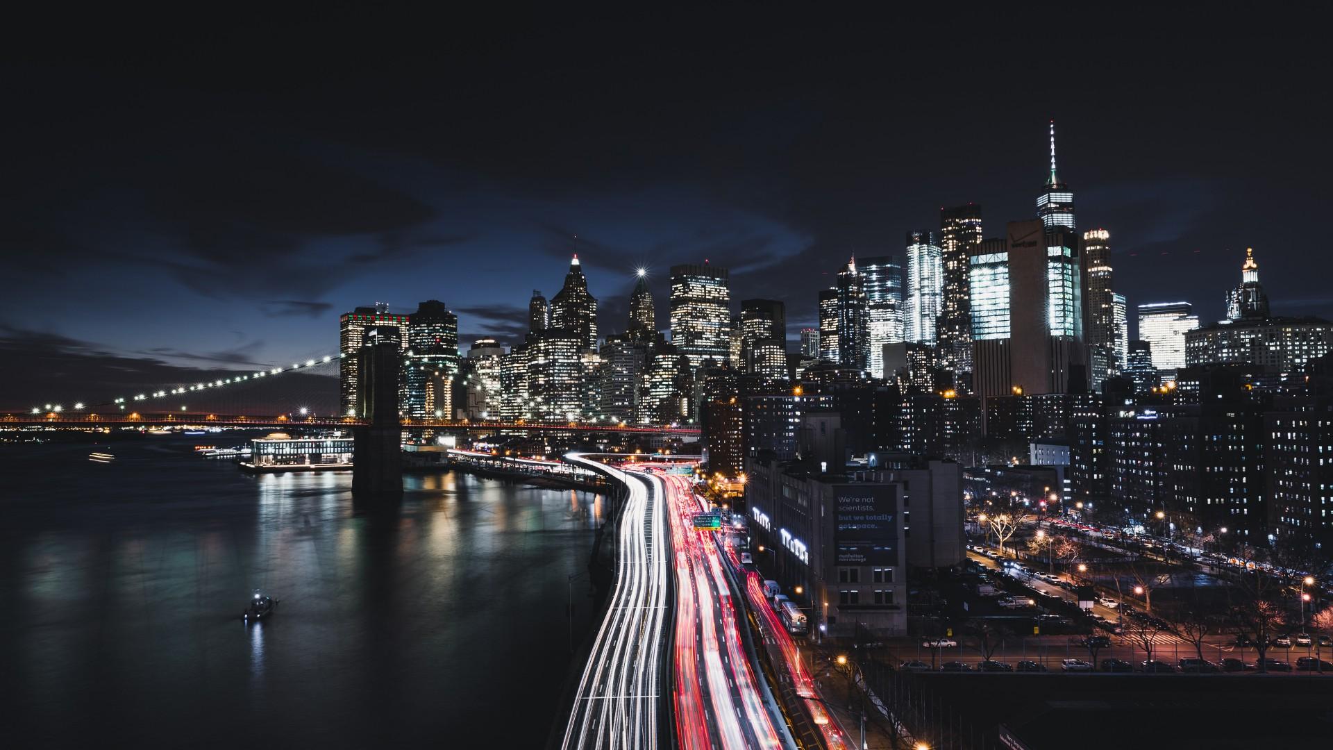 29 New York City At Night Wallpaper On Wallpapersafari