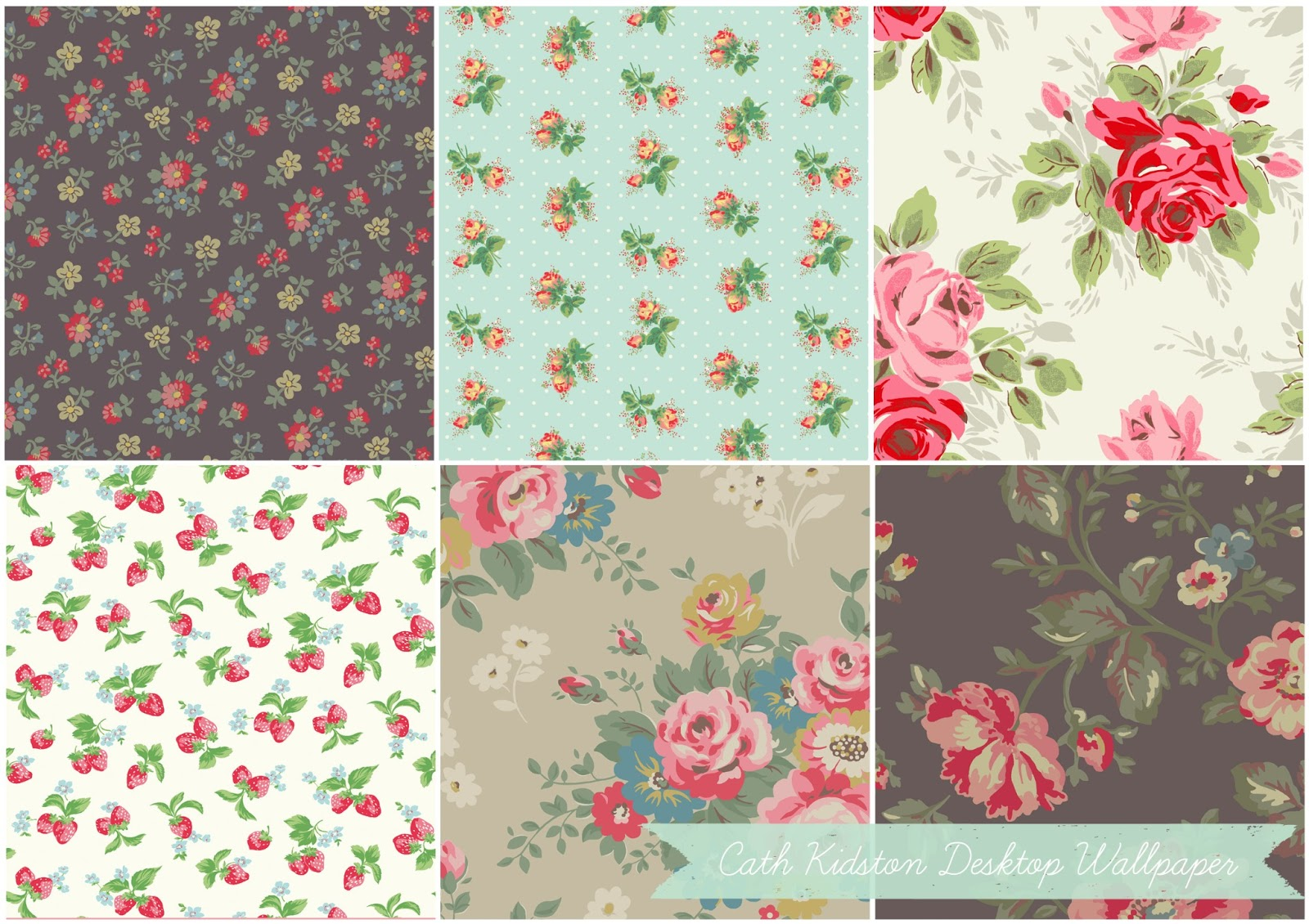 Cath Kidston has some beautiful desktop wallpaper available for 1600x1130