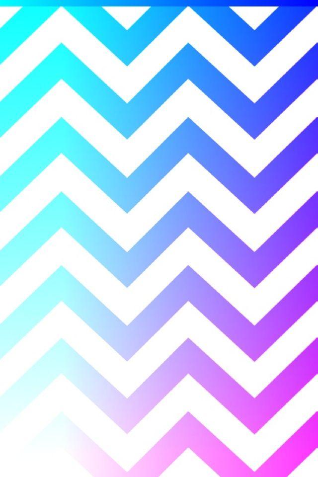 blue dark blue purple and kinda a little pink chevron wallpaper 640x960