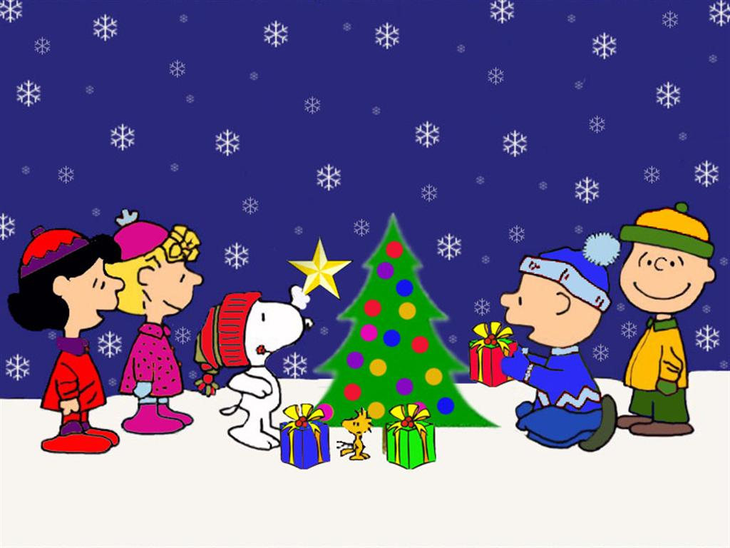 Charlie Brown Christmas Background 1024x768