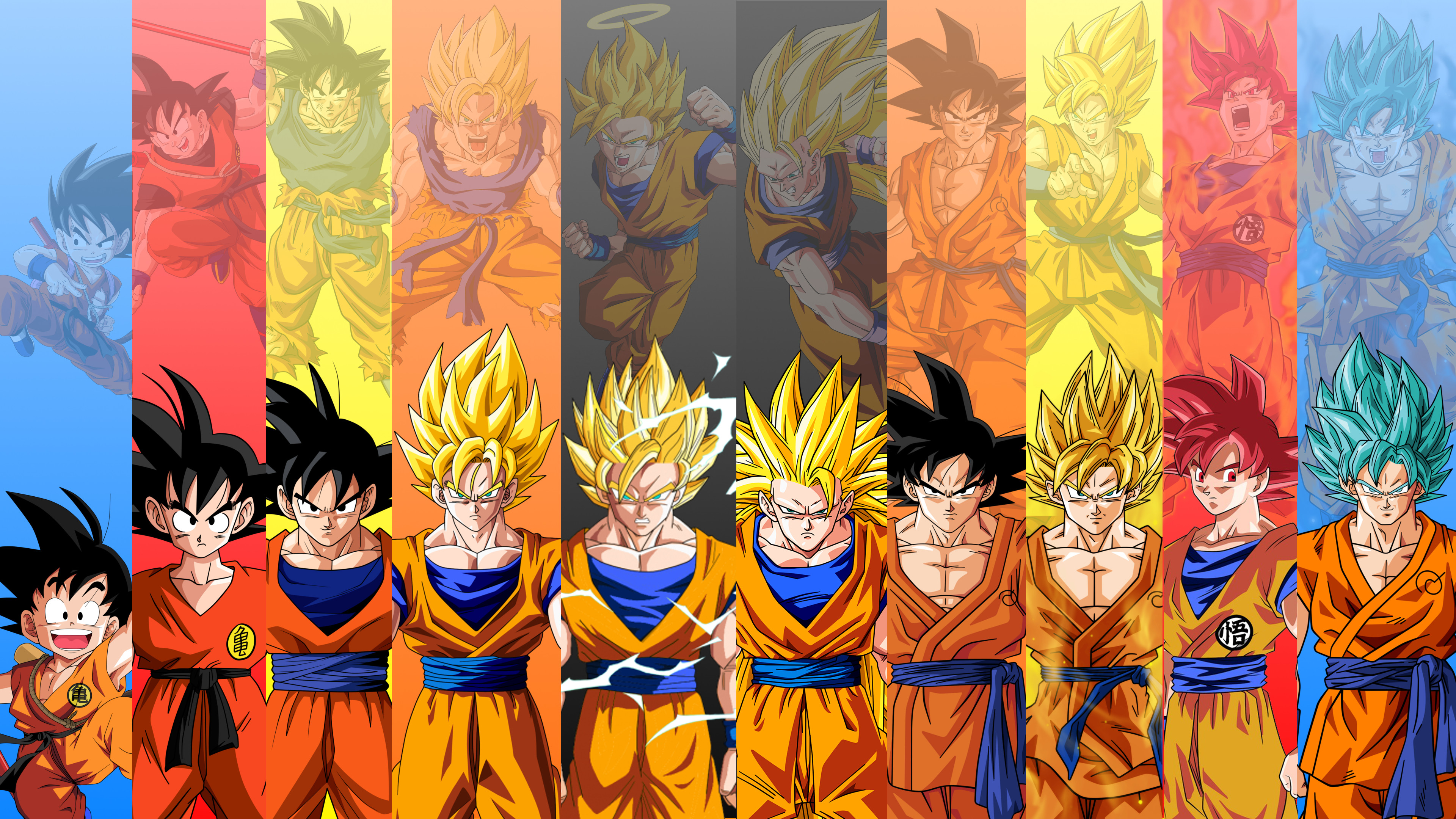 Goku Evolution Dragon Ball Wallpaper 1339 Wallpaper 3840x2160